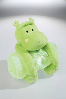 Schmusetier HIPPO mit Babydecke